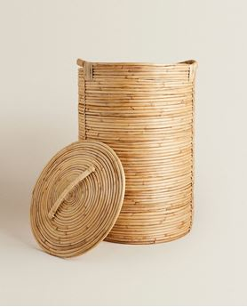 Picture of Cane Laundry Basket with Lid